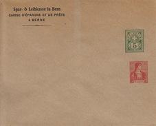 Ganzsache, Entier Postal Spar-& Leihkasse In Bern, Caisse Epargne Et Prêts, 2 Timbres 5 Vert  Et 10 Rouge