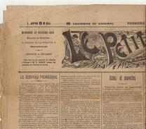 Journal Ancien LE PETIT BELGE De Bruyn Leopold Socialiste ... - 1850 - 1899