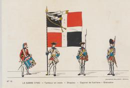 """Régiment  SARRE  1755 ~  Image D' Epinal.  Pellerin  CPM """" Drapeau - """" N° 13 - Regiments"""