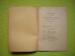 Plaquette 1897 1898 Rapport Sur Les Travaux Faculté Des Lettres De Montpellier Par Mr Castets - Vieux Papiers