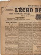 Journal Ancien Catholique L'ECHO DE RENAIX Ronse 31 Décembre 1911 Cercle Ouvrier Saint Ambroise Huysmans Député Brackel - Journaux - Quotidiens