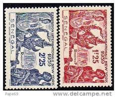 Sénégal  N° 153 / 54 XX  Exposition Internationale De New YorK 1939 La Paire Sans Charnière TB