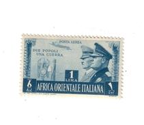 Africa Orientale Italiana 1941 A.20 P.a. Fratellanza D'armi Italo Tedesca Linguellati  COD.FRA.951 - Africa Orientale Italiana