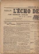 Journal Ancien Catholique L'ECHO DE RENAIX Ronse 10 Novembre 1912 Question Flamande Saint Hermes Gauche Libérale - Journaux - Quotidiens