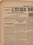 Journal Ancien Catholique L'ECHO DE RENAIX Ronse 13 Avril 1913 Associations Catholiques Woeste - Journaux - Quotidiens