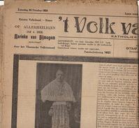Journal Ancien Catholique 'T VOLK VAN RONSE Renaix  De Bruyne Curé - Journaux - Quotidiens