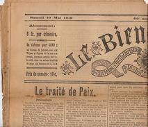 Journal Ancien LE BIEN PUBLIC 10 Mai 1919 Guerre Traité De Paix Clauses ... - Journaux - Quotidiens