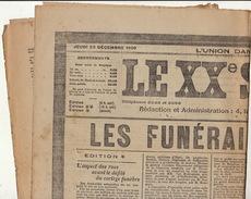 Journal Ancien LE XXè SIECLE Samedi 23 Décembre 1909 Funérailles Du Roi  Léopold II - Journaux - Quotidiens