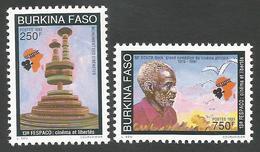 Burkina Faso 1993 FESPACO Film Festival Seck Douta Comedian Michel 1282-83 Mint MNH - Burkina Faso (1984-...)
