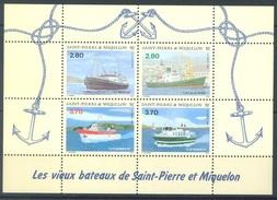 SAINT-PIERRE MIQUELON - 1994 - MNH/** - VIEUX BATEAUX - Yv BLOC 4  -  Lot 15038 - Neufs