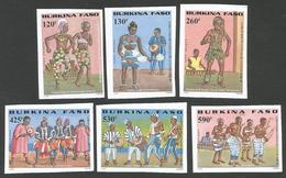Burkina Faso 2000 Dance Michel 1773-1778 Unperforated Mint - Burkina Faso (1984-...)