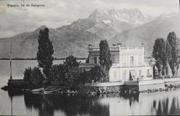 C.P.A. - SUISSE - ÎLE DE SALAGNON - Clarens 1815 MONTREUX - Daté 05.08.1912 - T.B.E. - Suisse