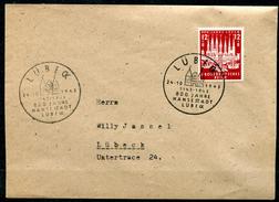 """German Empires,DR 1943 First Day Cover Mi.Nr.862""""800 Jahre Hansestadt Lübeck"""" Mit ESST""""Lübeck""""1 FDC  Bef. - Deutschland"""
