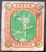 Privat-Stadt-Post Essen . 10 (o) - Private