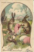 Joyeuses Pâques - LAPINS Peignant Des OEUFS De PÂQUES - RABBITS Painting EASTER EGGS - Easter