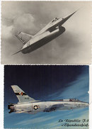 """2 CP -  Griffon 02 De Nord Aviation - Le Républic """"Thunderchief""""      (93997) - 1946-....: Ere Moderne"""