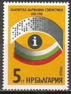 BULGARIA \ BULGARIE - 1981 - 100an. De La Fondation Du Centre Des Statistiques Bulgare - 1v** - Bulgaria
