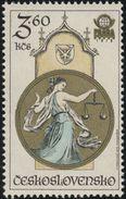 Czechoslovakia / Stamps (1978) 2326: Astronomical Clock In Prague (J. Manes: Scales) PRAGA 1978; Painter: Anna Podzemna - Stamps
