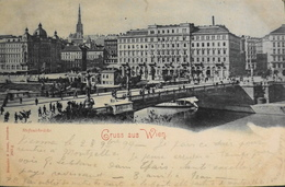 C.P.A. - AUTRICHE - VIENNE - Stefaniebrücke - Daté 28.10.1899 - T.B.E. - Altri