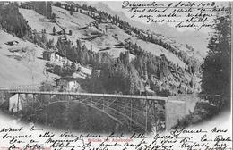 ADELBODEN → Bogen-Brücke Bei Adelboden Anno 1903 - BE Berne
