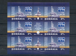 Roumanie. Feuillet. 10 Ans Romgaz. 1999-2009