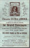 (orchies Nord) Bulletin Du 14e Grand Concours CHICOREE LEROUX  1924 (PPP4085) - Billets De Loterie