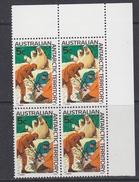 AAT 1968 Definitive 5c Bl Of 4 (corner) ** Mnh  (34306) - Australisch Antarctisch Territorium (AAT)