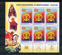 Roumanie. Feuillet. 150 Ans Etat Major