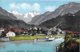 INTERLAKEN → Dampfschiff Im Kanal Beim Schloss Hotel Heidelberg, Ca.1920 - BE Berne