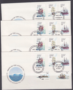 AAT 1979 Definitives / Ships 5v FDC (Casey, Davis, Macquarie, Mawson) (F6066) - FDC