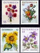 Annemone 2009 Blumenstrauß Österreich 2821,2888,2981+3199 ** 34€ Kuhschelle Sonnen-Blume Treuebonus Flower Austria - Toxic Plants
