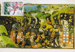 CARTE MAXIMUM - MAXICARD - MAXIMUMKART - MAXIMUM CARD - PORTUGAL - BATAILLE DE ALJUBARROTA (1385) - Cartes-maximum (CM)