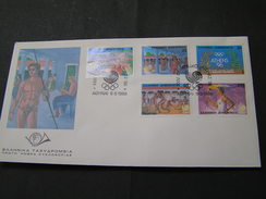 GREECE 1988 Seoul Olympic Games FDC. - Ete 1988: Séoul
