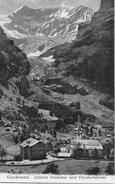 GRINDELWALD → Partie Bei Der Kirche Mit Den Viescherhörner Und Dem Unteren Gletscher, Ca.1910 - BE Bern
