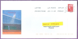 Enveloppe Officielle Roland Garros 2009 - Fédération Française De Tennis / Sport Jeux Olympiques / 23/11/2009 - Tennis