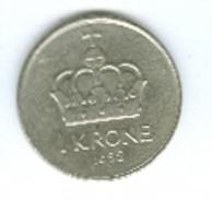 Norwegen 1988 1 Krone Krone Rückseite Olaf V. - Norwegen