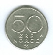Norwegen 1984 50 Öre Rückseite Wappen - Norwegen