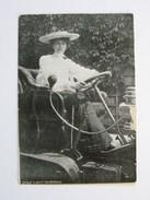 """1907 """" MISS VIOLET VANBRUGH """",AUTOMOBILE,GUERNEZEY,GAVET,ALDERNEY,AURIGNY,POSTCARD,WOMAN IN A CAR,ACTRICE,STAR - United Kingdom"""