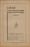 Revue étudiant Université De Liège Novembre 1946 Première Année N°1 - Kranten