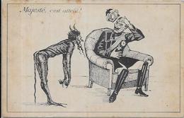 CPA Diable Devil Krampus Circulé Satirique Guillaume II KAISER Guerre De 14-18 Patriotique - Glaube, Religion, Kirche