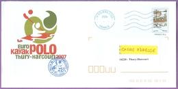 Enveloppe Officielle Championnat Europe Kayak Polo 1997 Thury-Harcourt  / Sport / 11/06/2007 / Entier Postal Du 2867