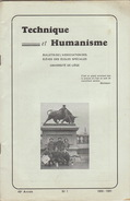Revue étudiant Université De Liège TECHNIQUE ET HUMANISME - Journaux - Quotidiens