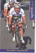 PAOLO  BETTINI      SERIE  SPRINT 2010   N°  202 - Cyclisme