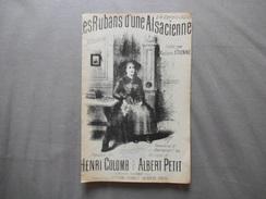 LES RUBANS D'UNE ALSACIENNE A MONSIEUR CLEMENT JUSTET MELODIE CREEE PAR Mme ETIENNE PAROLES DE HENRI COLOMB - Noten & Partituren