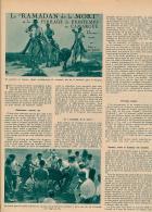 1953 : Document, CAMARGUE (3 Pages Illustrées) Ferrade De Printemps, Taureau, Marquage, Ramadan De La Mort... - Vieux Papiers