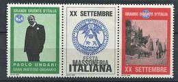 103 ITALIE 2000 - Paolo Ungari - Masonic Franc Maconnerie Freemasonery - Neuf ** (MNH) Sans Charniere (Vignette) - Franc-Maçonnerie