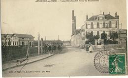 ASNIERES-SUR-OISE -- USINE  DEROLLAND  Et  ROUTE  De  ROYAUMONT - Asnières-sur-Oise