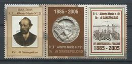 103 ITALIE 2005 - Alberto Mario - Masonic Franc Maconnerie Freemasonery - Neuf ** (MNH) Sans Charniere (Vignette) - Franc-Maçonnerie