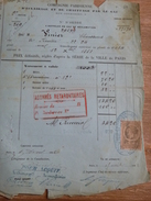 Compagnie Parisienne éclairage Chauffage Gaz Condorcet PARIS 1882 Vinier Chaussures Timbre Fiscal - Electricité & Gaz