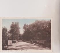 (R4G) SAONE ET LOIRE , GENELARD , L'église Et La Route De Perrecy - France